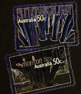 Aussie stamps reversed
