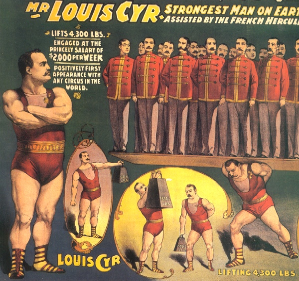 Louis Cyr, strong man