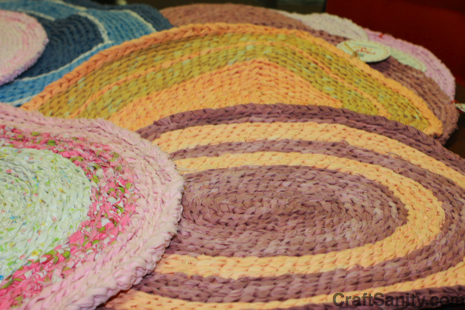Round Crochet Rag Rug - Craft Patterns, Home Decor and Home