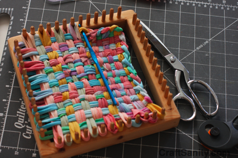 Craftsanity on tv making potholder loopers out of for How to make rugs out of old t shirts