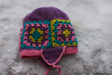 A Knit And Crochet Combo  The Granny Square Hat Is Complete ... 1c42b1b76f8