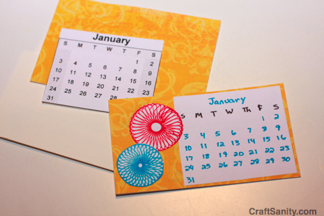 As Seen On Tv Easy Handmade Calendar Projects Craftsanity A