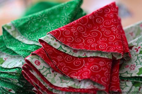 one snow day two dozen cloth napkins folded into christmas trees - Christmas Napkins Cloth