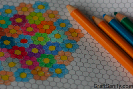Hexagon Graph Paper Printouts,Graph.Printable Coloring Pages Free