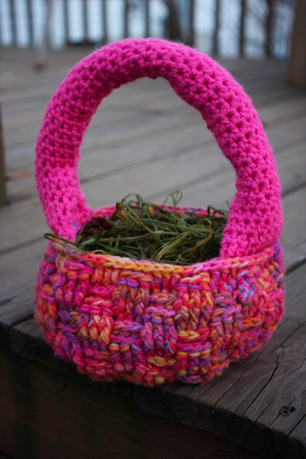 The Best Crocheted Easter Basket Pattern Ever Craftsanity A