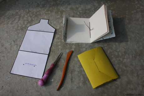 CraftSanity on TV: Making Envelopes and Tiny books Using Handmade ...