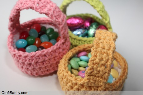 Free Spring Mini Basket Crochet Pattern CraftSanity A Blog And Classy Crochet Easter Basket Pattern