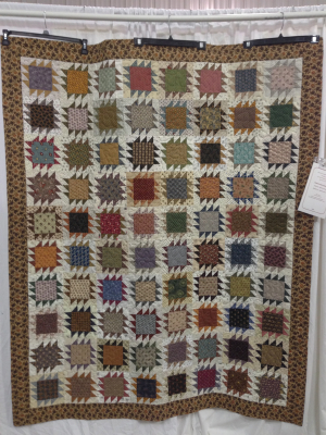 Beverly Jones paper pieced this quilt using Civil War reproduction fabrics.