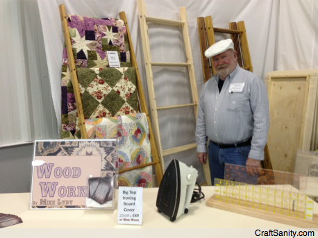 I bought a nice big, quilter's ironing board from Hastings Wood Worker Mike Lydy.