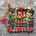Potholder 1 woven by Abby  - Reserved for MaryAnn