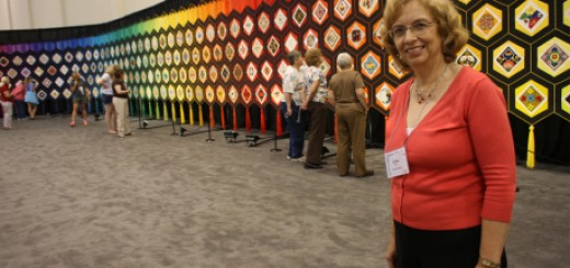 "Esther Bryan is the artist who collaborated with hundreds of people to create the 120 foot ""Quilt of Belonging."" CraftSanity Magazine Episode 138 was recorded last month at the AQS quilt show in Grand Rapids, Michigan."