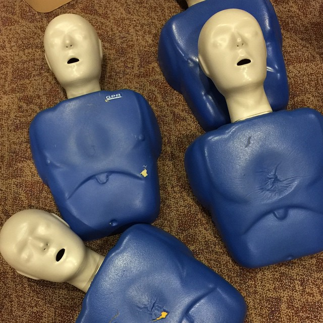 Just got certified for another two years. I hope I never have to use this skill. #cpr #aedtraining
