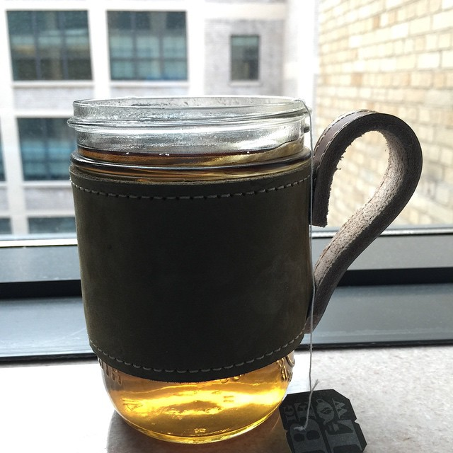 Morning tea is essential today. Black mint, wake me up. #tea #mint