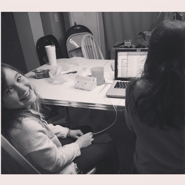 Here are my girls helping me with a new CraftSanity project. We're having fun, so it doesn't really matter how it all turns out. : ) #collaboration #fun #trysomethingnew #recording