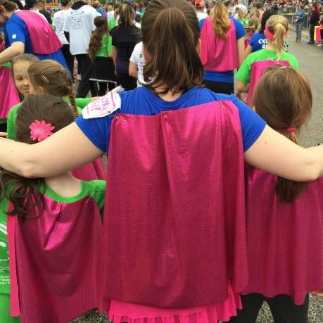 Saturday we were superheroes.